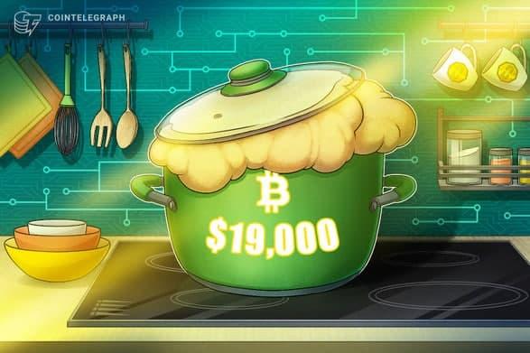 قیمت بیت کوین (Bitcoin) مجددا به سطح 19000 دلاری رسید