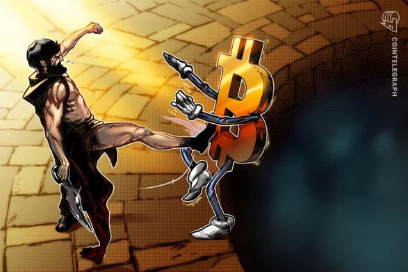 قیمت بیت کوین (Bitcoin) به 27.700 دلار کاهش یافت تا شکاف بازار آتی را پر کند