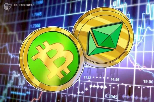 رشد سه رقمی قیمت بیت کوین کش (Bitcoin Cash) و اتریوم کلاسیک (Ethereum Classic) طی دو هفته
