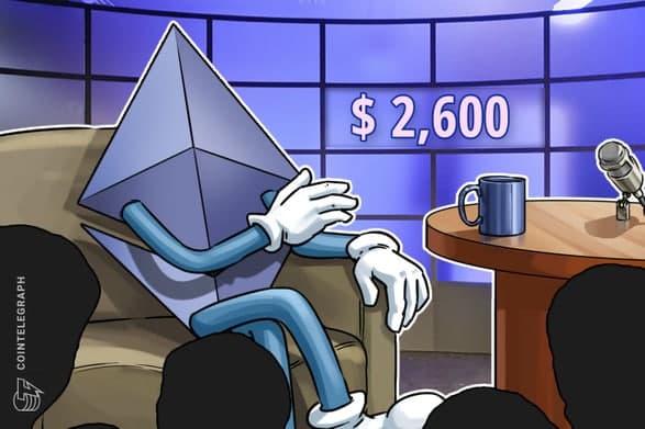جهش قیمت اتریوم (Ethereum) به 2.600 دلار تاثیری بر احساسات نزولی معامله گران حرفه ای نداشت